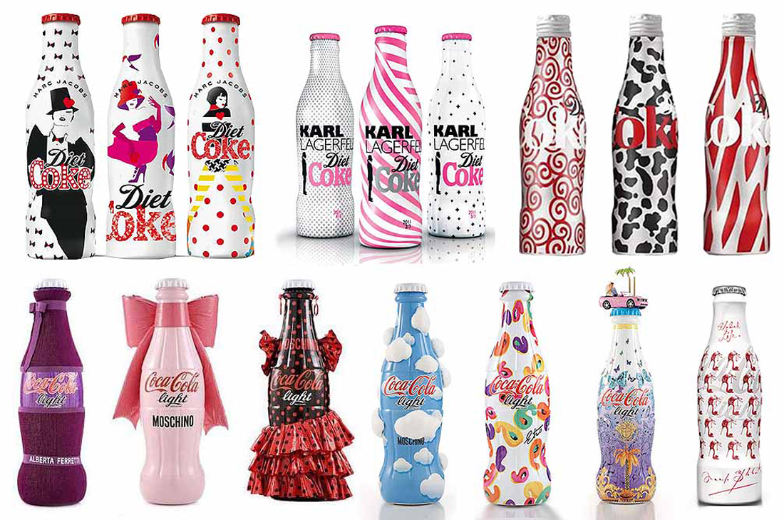Brand partnerships examples: co-branding between Coca-Cola and various fashion brands.