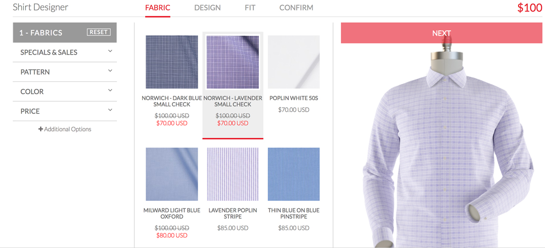 Customization has been a huge online fashion technology trend in 2016