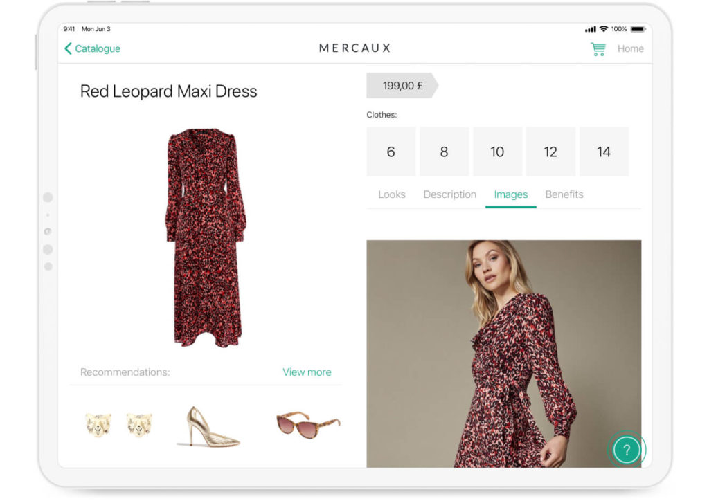 digital transformation for retail app in-store data mercaux solution
