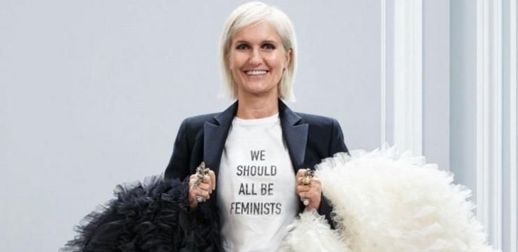Maria Grazia Chiuri in a white t-shirt explains rather well the female empowerment concept